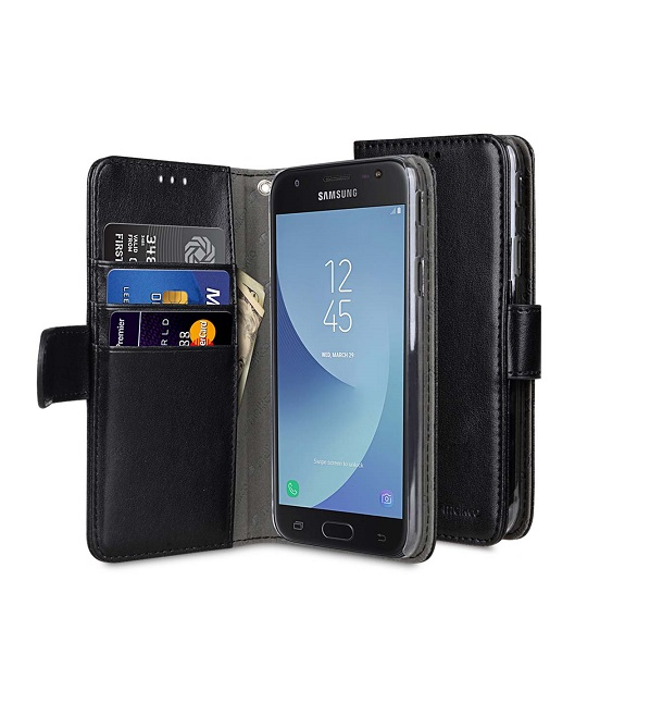 09bfa1c1a03 Melkco Samsung S6 ümbris (Elegant Black Book) - Keiss.ee